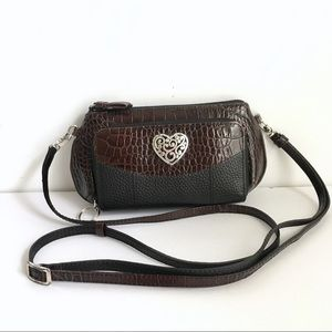 Brighton Crossbody Purse / Belt Back Brown Black